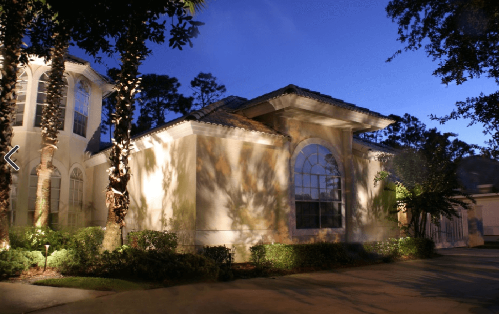 orlando landscape lighting installed on home and driveway