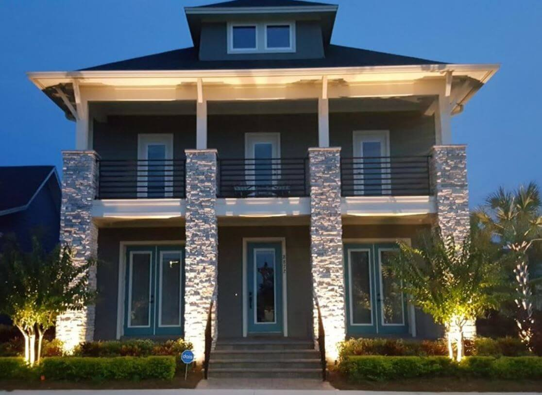 landscape lighting maintenance of orlando area home