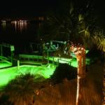 oceanscape landscape lighting installation around dock