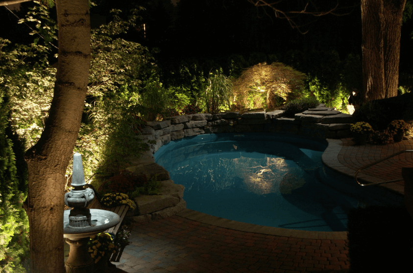 orlando landscape lighting around pool