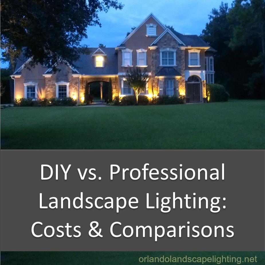 Diy Vs Professional Landscape Lighting