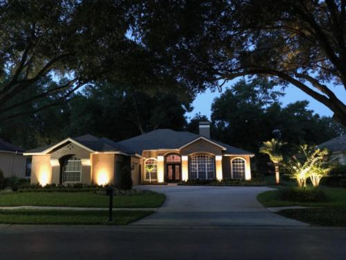Lake Mary FL landscape lighting installation on home